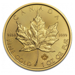 1 oz Maple-Leaf Gold 2016 | 2016 Gold Maple 1 Unze