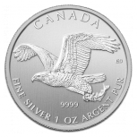 Birds of Prey, Bald Eagle, 1oz Silber, 2014