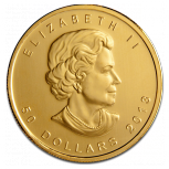 Maple Leaf, 50 Dollar, 1oz Gold, 2013